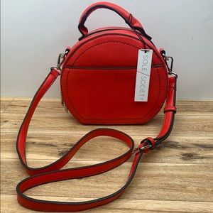 Sole Society Glyso Round Faux Leather CrossbodyBag